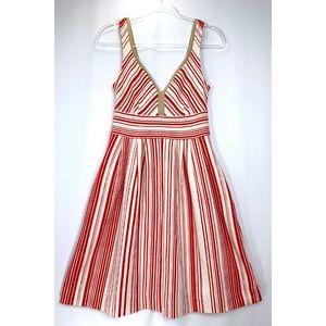 Anthropologie Postal Stamp summer dress